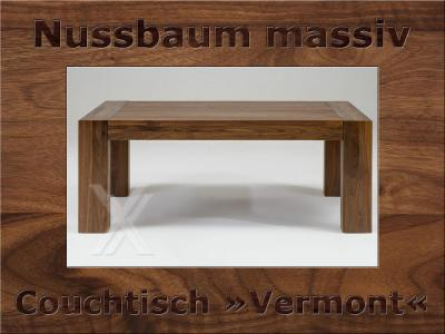 couchtisch wohnzimmertisch tisch holztisch massiv nussbaum ge lt 120x80cm ebay. Black Bedroom Furniture Sets. Home Design Ideas