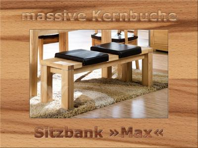 sitzbank bank k chenbank esszimmer holzbank massiv kernbuche ge lt 150cm breit ebay. Black Bedroom Furniture Sets. Home Design Ideas