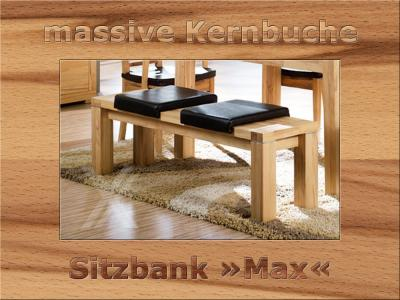 sitzbank bank k chenbank esszimmer holzbank massiv kernbuche ge lt 130cm breit ebay. Black Bedroom Furniture Sets. Home Design Ideas