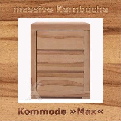 kommode schrank garedrobenschrank kernbuche massiv ge lt 70cm breite ebay. Black Bedroom Furniture Sets. Home Design Ideas