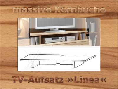 tv aufsatz regal wandpaneel wandregal medienregal aus kernbuche massiv ge lt ebay. Black Bedroom Furniture Sets. Home Design Ideas