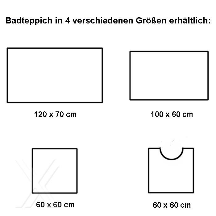 Badteppich Badmatte Bad Vorleger WC Teppich Motiv »Shell
