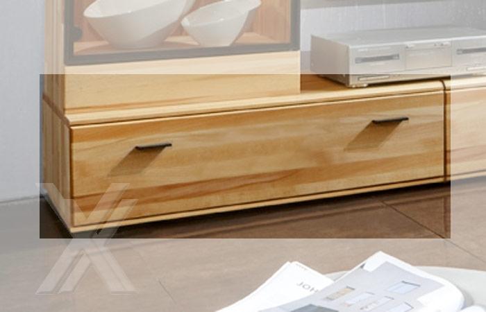 tv media lowboard wohnzimmerschrank kernbuche massiv ge lt 125cm breite ebay. Black Bedroom Furniture Sets. Home Design Ideas