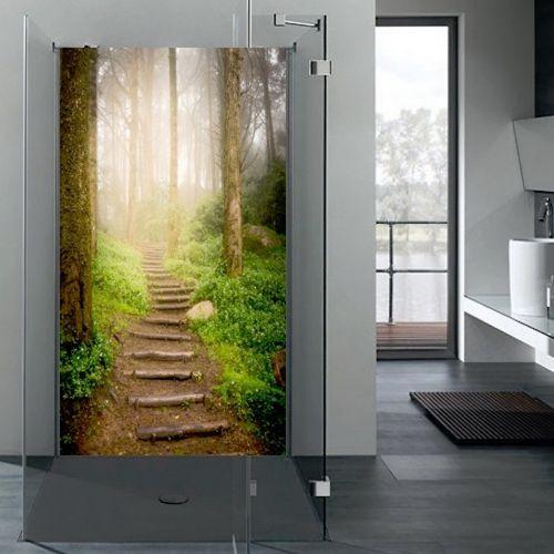 alu dibond motivwand dusche duschr ckwand wandbild badezimmer wandschutz motiv ebay. Black Bedroom Furniture Sets. Home Design Ideas