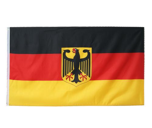 deutschland fahne 90x150 mit adler hissfahne hissflagge. Black Bedroom Furniture Sets. Home Design Ideas