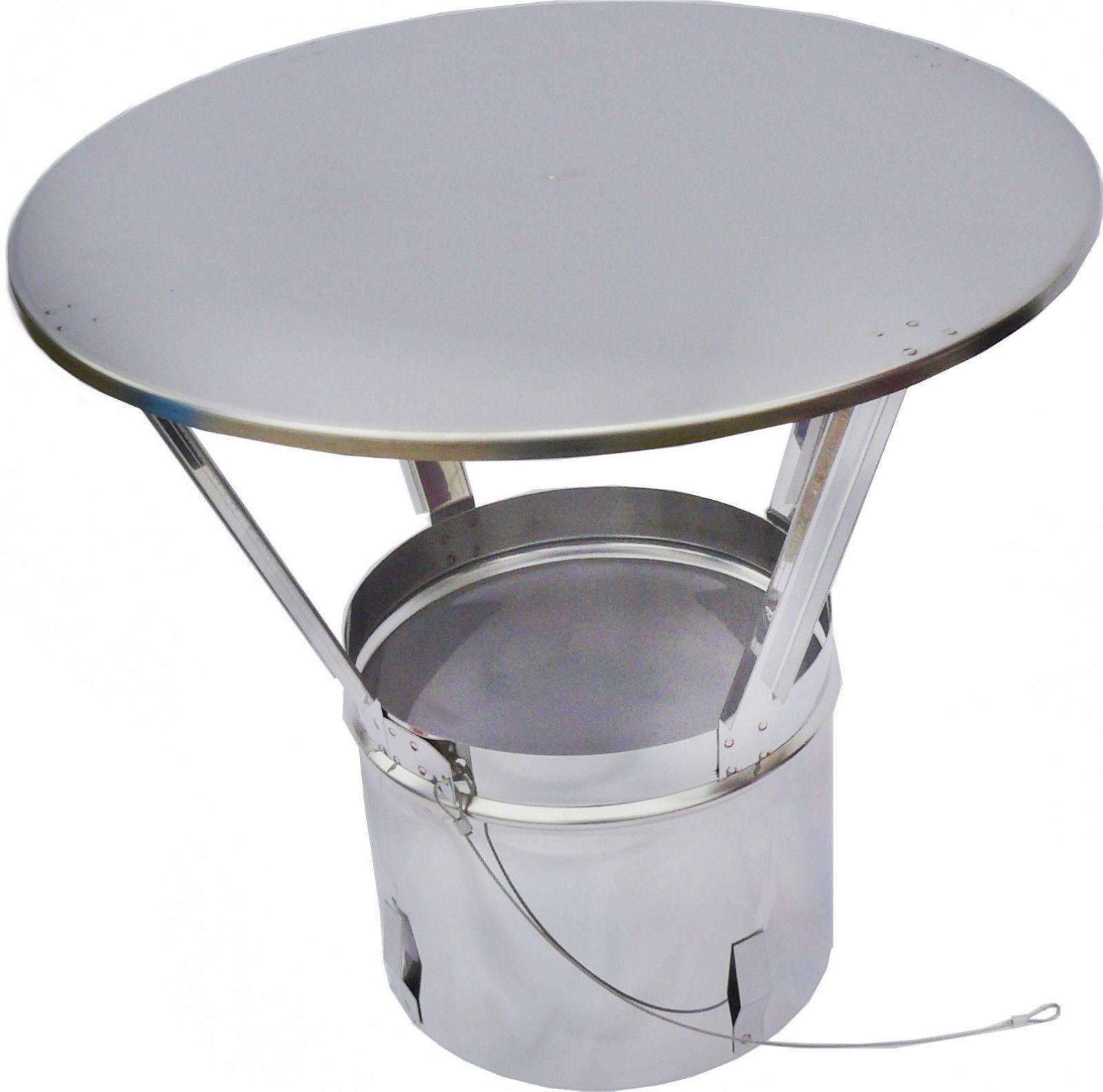 edelstahlschornstein kamin universal regenhaube regenhut mit einschub bzw seil ebay. Black Bedroom Furniture Sets. Home Design Ideas