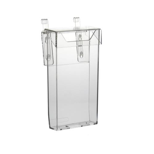 autoprospekthalter prospektbox flyerhalter mit deckel im din lang hochformat ebay. Black Bedroom Furniture Sets. Home Design Ideas