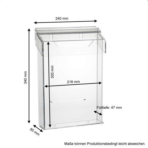 din a4 prospektbox prospekthalter mit deckel wetterfest im hochformat ebay. Black Bedroom Furniture Sets. Home Design Ideas