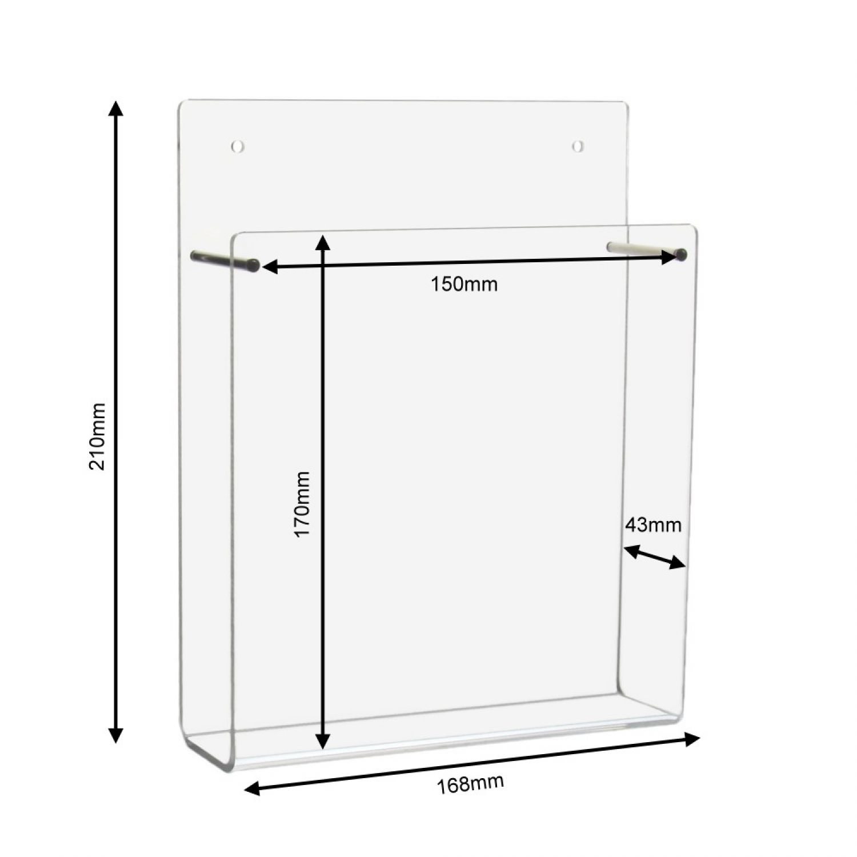 din a5 wandprospekthalter im hochformat aus acrylglas ebay. Black Bedroom Furniture Sets. Home Design Ideas