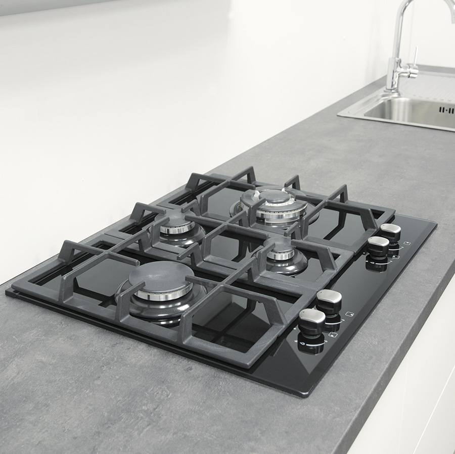 gaskochfeld autark cata lci 631 a negra gaskochmulde wok gas auf glas ebay. Black Bedroom Furniture Sets. Home Design Ideas