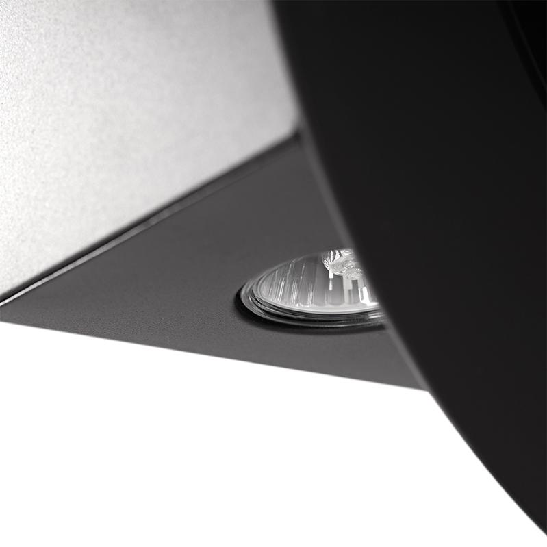 exclusive diagonale dunstabzugshaube cata planet mit rundem glas design 60 cm ebay. Black Bedroom Furniture Sets. Home Design Ideas