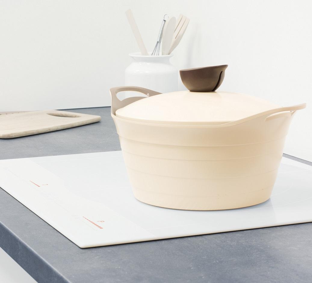 vollfl chen ultra fast induktion kochfeld gigant wei kreiszone 40 cm 60 cm ebay. Black Bedroom Furniture Sets. Home Design Ideas