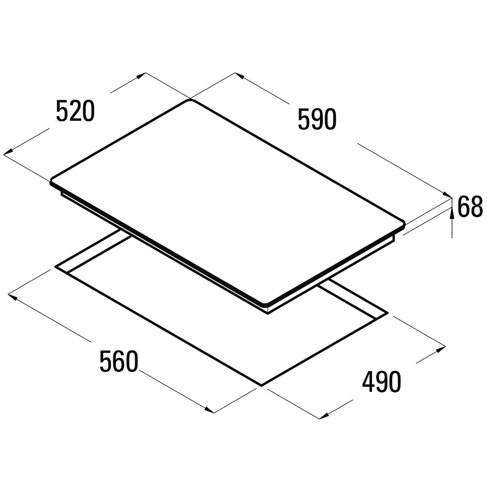 induktion kochfeld kochmulde autark 4 kochzonen booster schott ceran 60 cm ebay. Black Bedroom Furniture Sets. Home Design Ideas