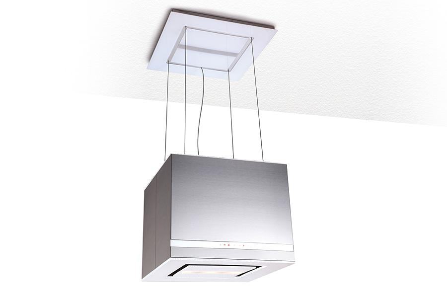 Exklusive glas edelstahl inselhaube lampen design for Exklusive lampen designer