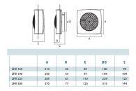 Fenster/Wandventilator Lüfter CATA LHV 160 Weiß, 450 m³/h, 160 mm, IPX4 ,40 dB
