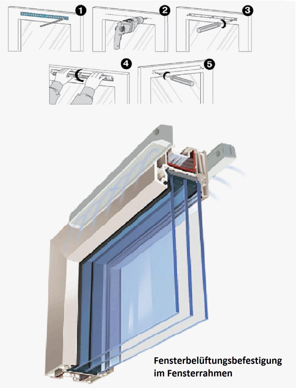 fenster bel ftung set vents p0 400 regulierung 4 ventilator ebay. Black Bedroom Furniture Sets. Home Design Ideas