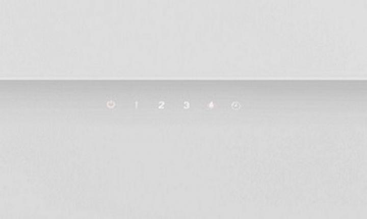 moderne kopffreie wei glas wandhaube 60 cm venus 600 led touch 50 db ebay. Black Bedroom Furniture Sets. Home Design Ideas