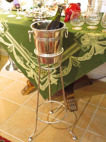 harrods sektk hler st nder wine bucket stand ebay. Black Bedroom Furniture Sets. Home Design Ideas