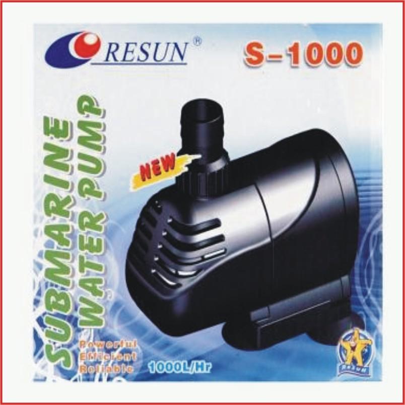 resun s 1000 pumpe tauchpumpe aquariumpumpe 15watt 1000 l h max h 110cm ebay. Black Bedroom Furniture Sets. Home Design Ideas