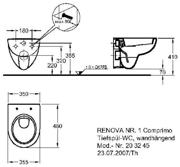 Favorit Pneumatik schaltzeichen: Abflusshöhe wand wc GL99