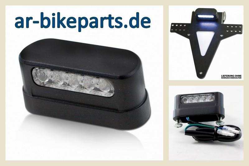 motorrad led kennzeichenbeleuchtung schwarz aluminium. Black Bedroom Furniture Sets. Home Design Ideas