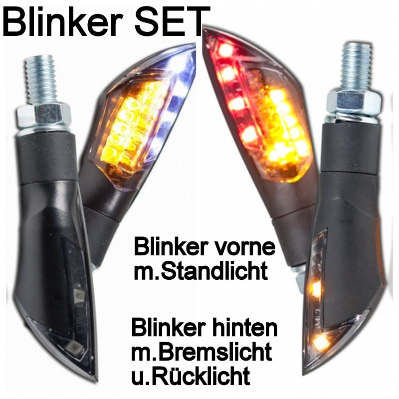 motorrad led mini blinker dual set vorne hinten bremslicht. Black Bedroom Furniture Sets. Home Design Ideas