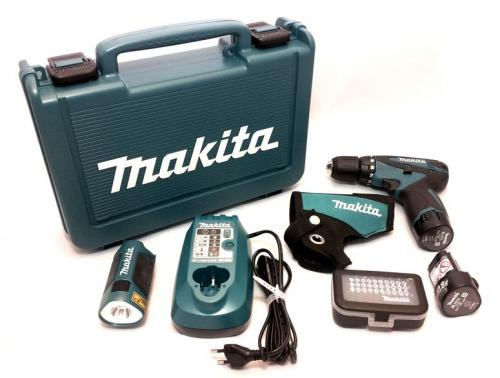 makita akkuschrauber 10 8v df330dwlx1 akku lampe bit. Black Bedroom Furniture Sets. Home Design Ideas