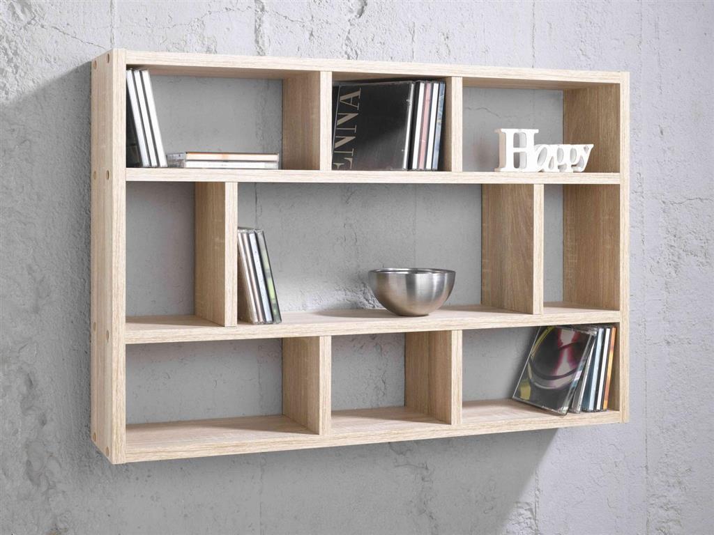 wandregal sonoma eiche nb inkl wandhalterungen ebay. Black Bedroom Furniture Sets. Home Design Ideas