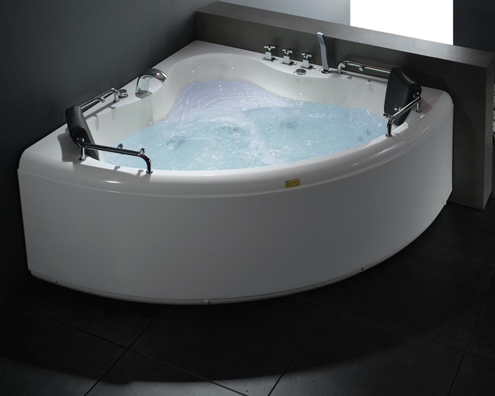 whirlpool eck badewanne whirlwanne badewanne pool oslo comfort 1400x1400x620mm. Black Bedroom Furniture Sets. Home Design Ideas