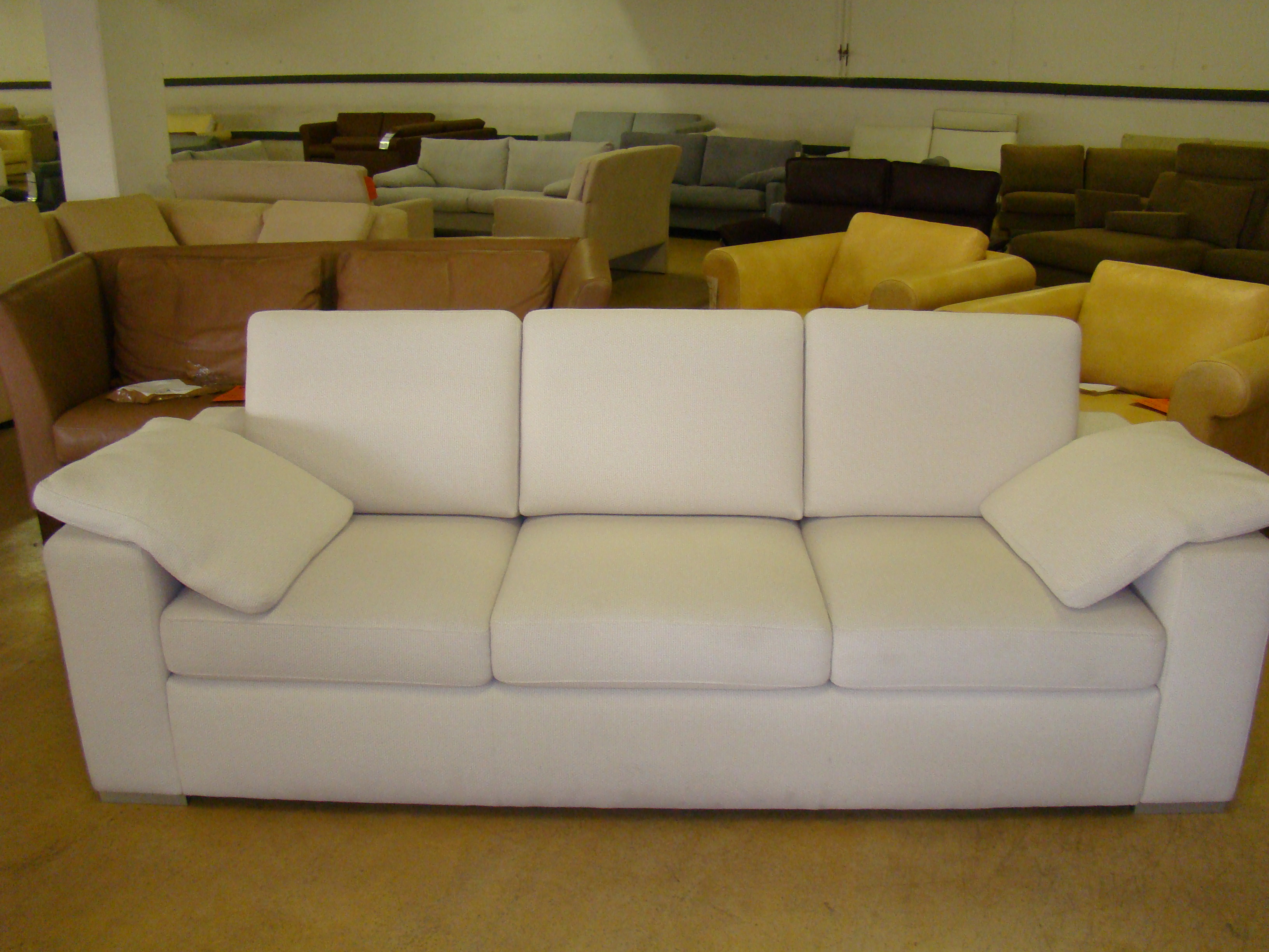 machalke sofa system plus 3 sitzer in stoff wei ausstellungsst ck ebay. Black Bedroom Furniture Sets. Home Design Ideas
