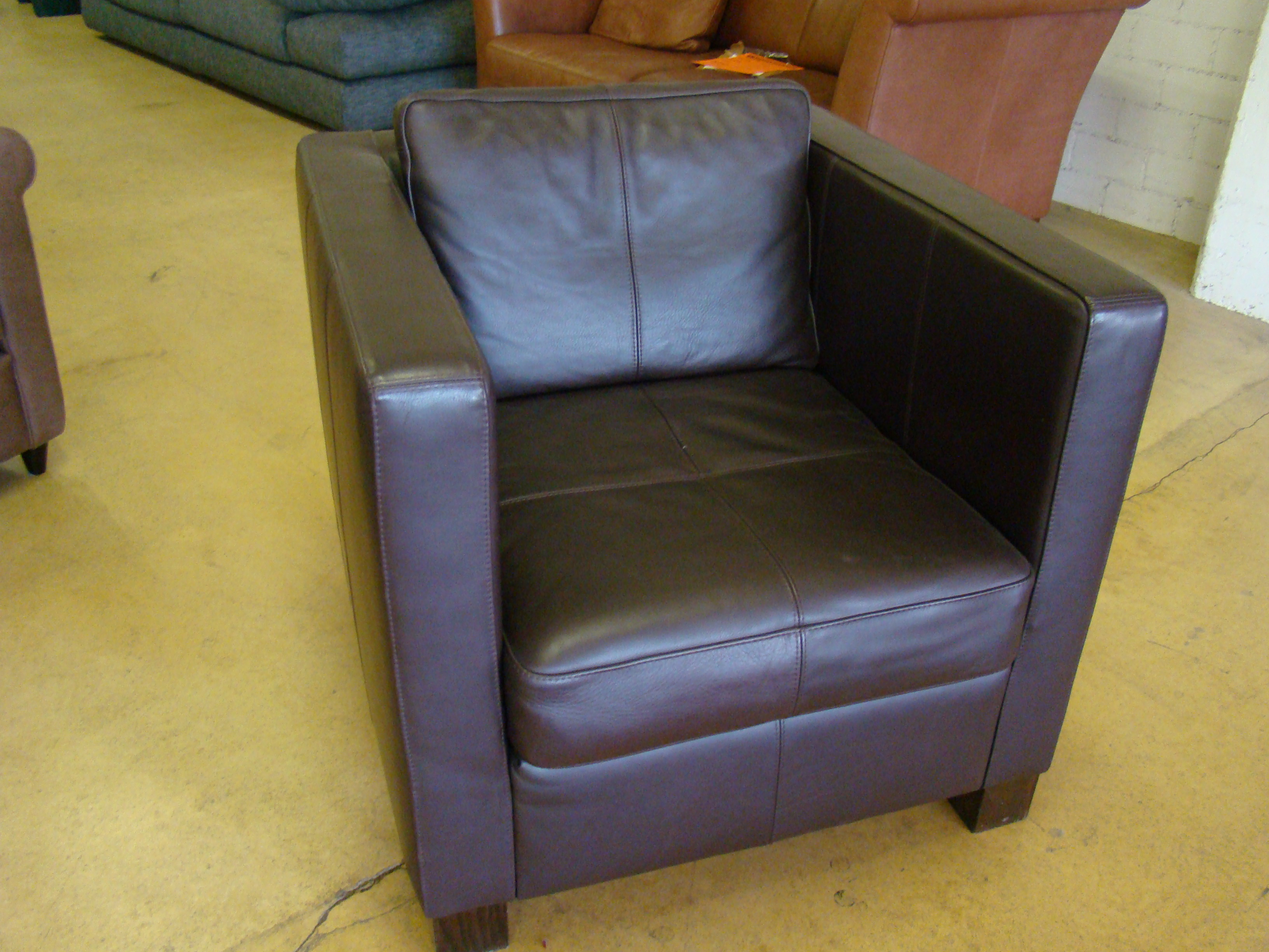 machalke sessel crack 200 in leder aubergine ausstellungsst ck ebay. Black Bedroom Furniture Sets. Home Design Ideas