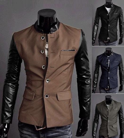 bans herren club jacke jacket sakko pullover anzug slim fit neu pu. Black Bedroom Furniture Sets. Home Design Ideas