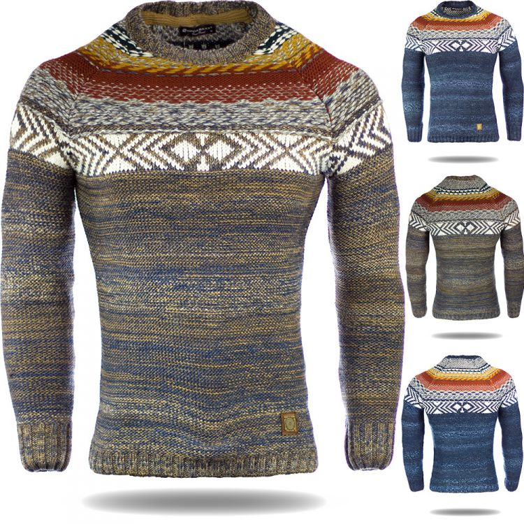 cipo baxx herren pullover sweater norweger sweatshirt. Black Bedroom Furniture Sets. Home Design Ideas