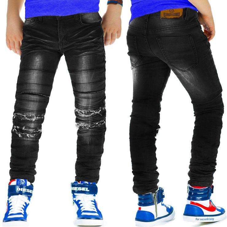 squared cubed denim jungen jeans slim fit biker kinder. Black Bedroom Furniture Sets. Home Design Ideas