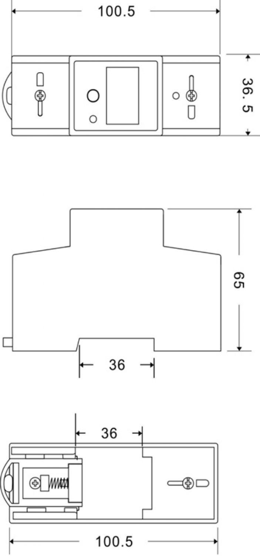 SWISSNOX SX-1MRP WECHSELSTROMZÄHLER STROMZÄHLER HUTSCHIENE WATTMETER WECHSELMODI