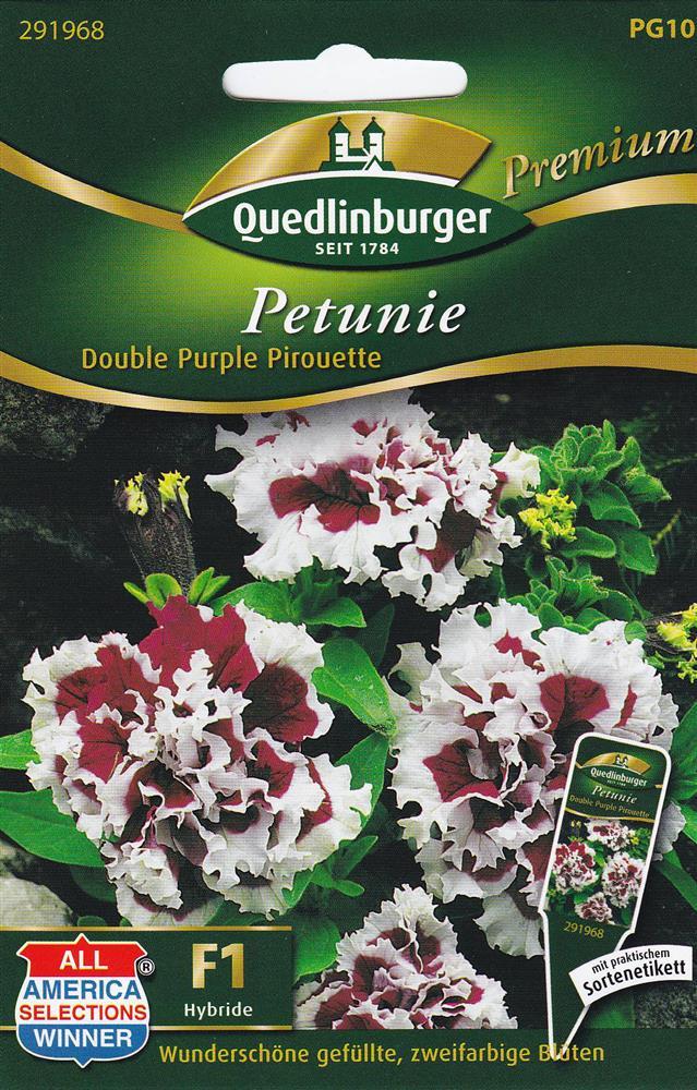 petunien double purple pirouette f r ca 20 pflanzen samen saatgut aiussaat beet ebay. Black Bedroom Furniture Sets. Home Design Ideas