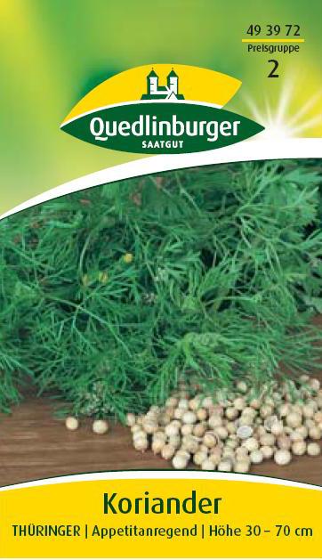 Koriander th ringer f r ca 150 pflanzen samen saatgut for Koriander pflanzen