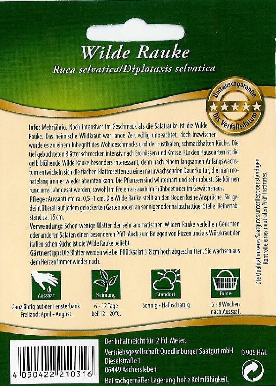 Salatrauke für ca 0,5 Meter Samen Saat Saatgut Sämerei Salat Gemüse Aussaat