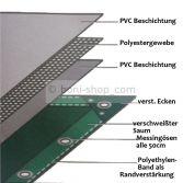 4,69?/m² PVC grün 650 g/m² Abdeckplane LKW Plane Industrie Gewebeplane Ösen