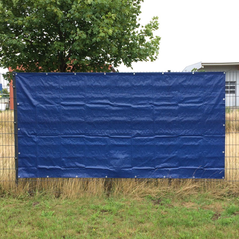 20 x blaue 160g m² Bauzaunplane Sichtschutzplane Zaunblende