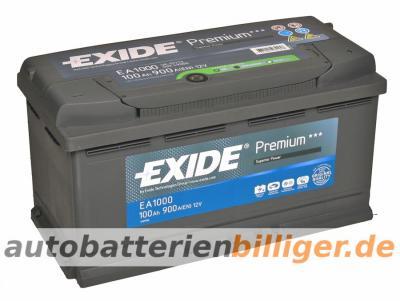exide premium superior power ea1000 100ah 12v car battery 88ah 90ah 95ah ebay. Black Bedroom Furniture Sets. Home Design Ideas