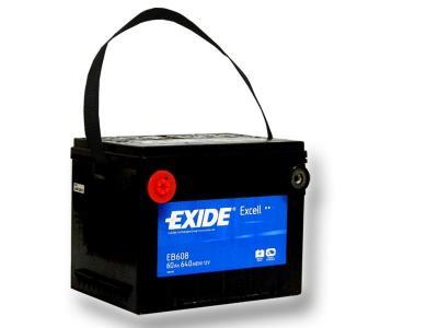 exide excell eb608 60ah us cars einbaufertig. Black Bedroom Furniture Sets. Home Design Ideas
