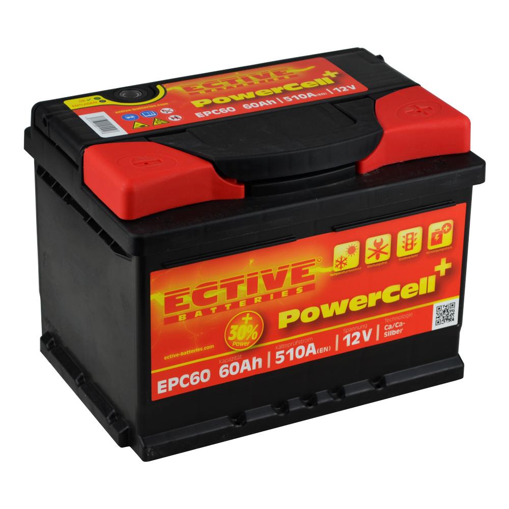 ective powercell 30 60ah autobatterie einbaufertig ebay. Black Bedroom Furniture Sets. Home Design Ideas