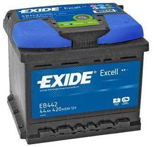 exide excell eb440 44ah autobatterie einbaufertig fiat punto ebay. Black Bedroom Furniture Sets. Home Design Ideas