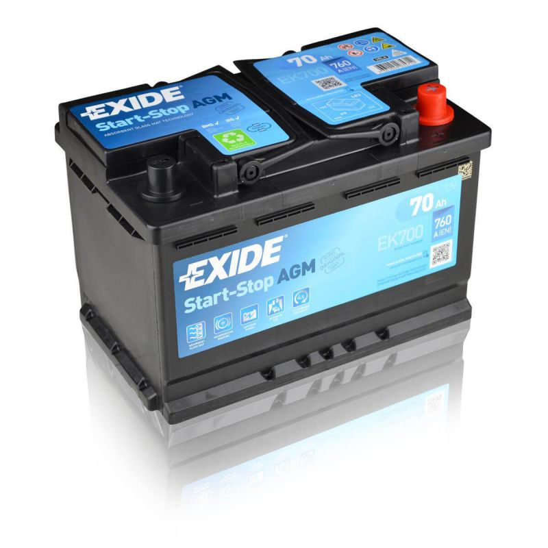 exide agm ek700 70ah 12v autobatterie einbaufertig ebay. Black Bedroom Furniture Sets. Home Design Ideas