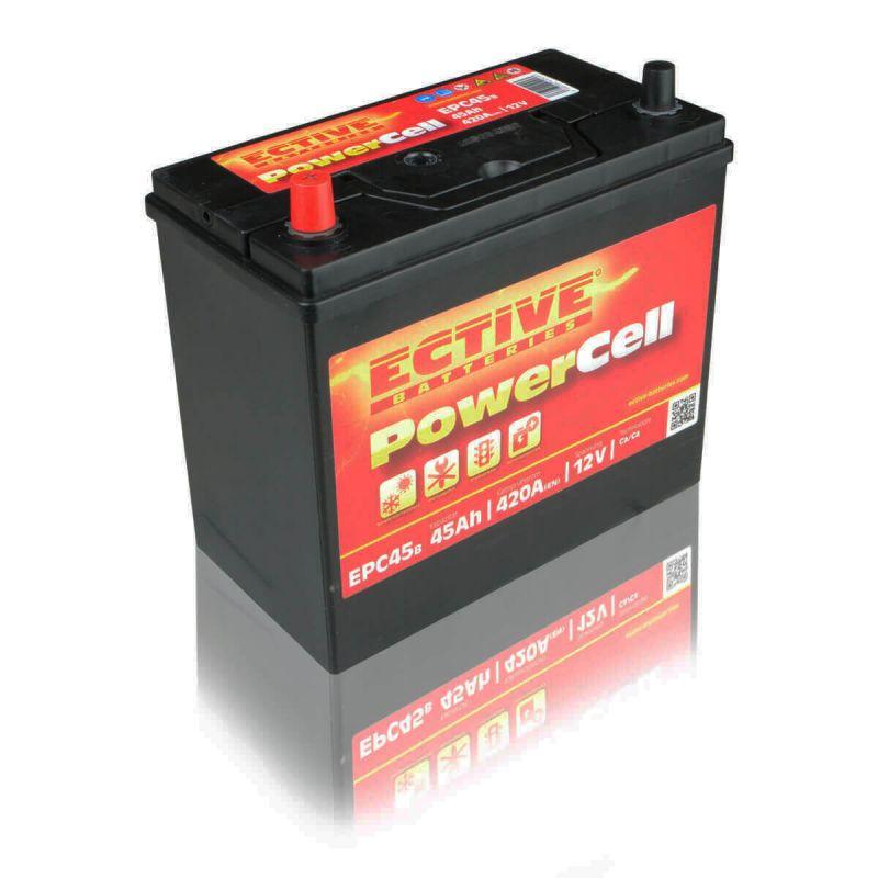 ective epc45b autobatterie 45ah 12v starterbatterie pkw. Black Bedroom Furniture Sets. Home Design Ideas