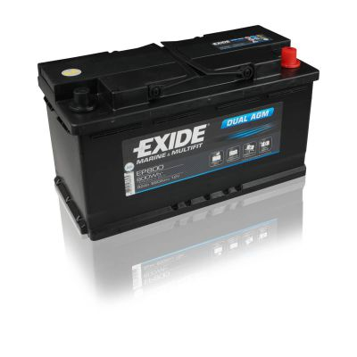 exide ep800 dual agm 95ah 12v 800wh bootsbatterie antriebs. Black Bedroom Furniture Sets. Home Design Ideas