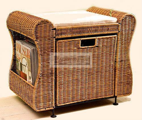 hocker sitzhocker aufbewahrungsbox truhe farngeflecht stauraum braun ebay. Black Bedroom Furniture Sets. Home Design Ideas
