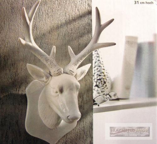 wanddekoration geweih hirschgeweih hirschkopf schmuckhalter 31 cm hoch ebay. Black Bedroom Furniture Sets. Home Design Ideas