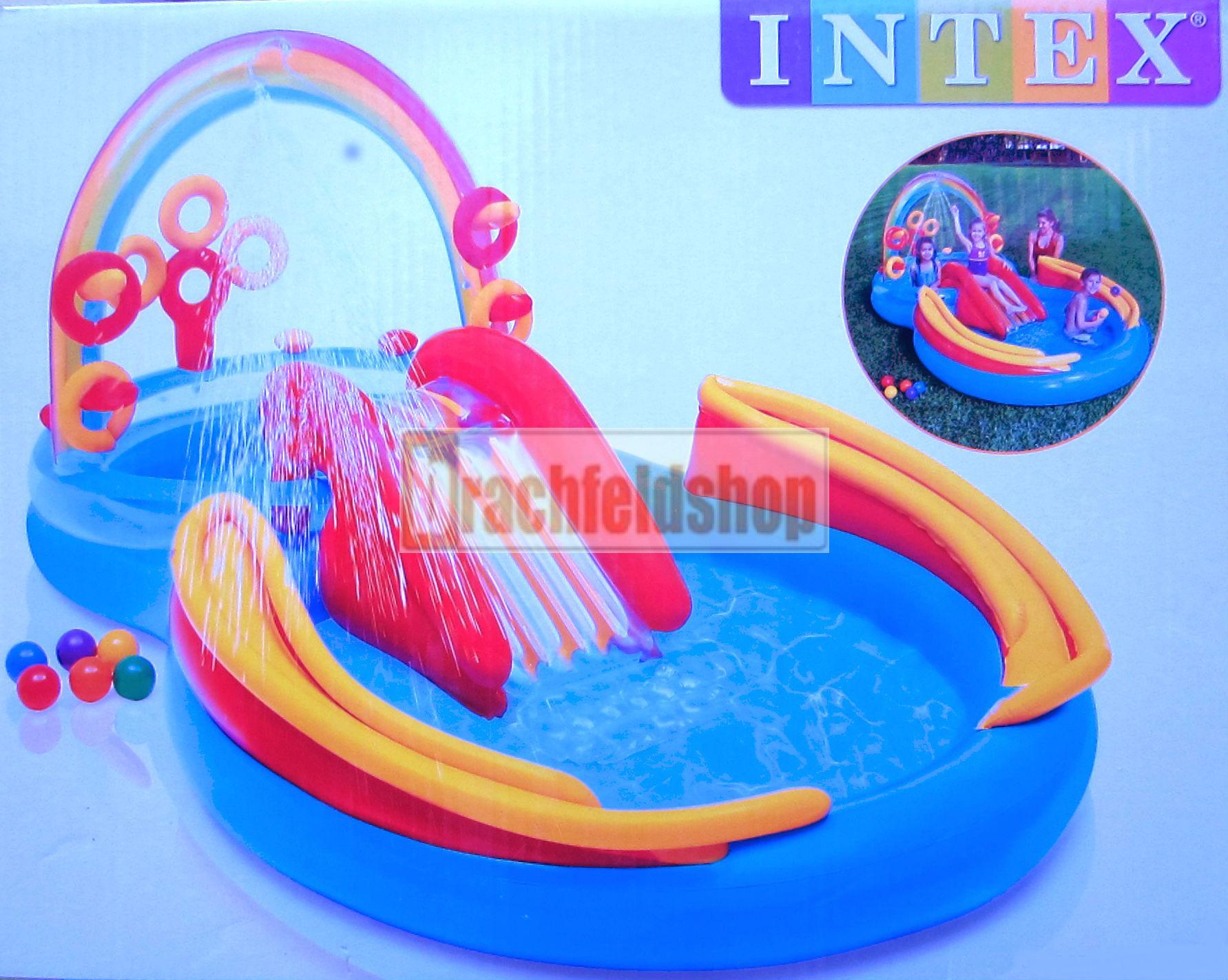 intex rainbow ring playcenter kinder pool rutsche b lle planschbecken ebay. Black Bedroom Furniture Sets. Home Design Ideas